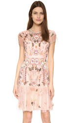 Needle And Thread Floral Tiered Dress Pastel Pink