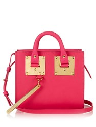 Sophie Hulme Albion Box Leather Cross Body Bag Fuchsia