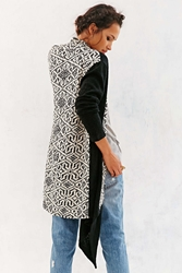 Ecote Feel The Pattern Cardigan Black