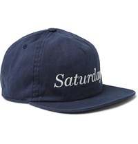 Saturdays Surf Nyc Stanley Embroidered Cotton Twill Baseball Cap Navy