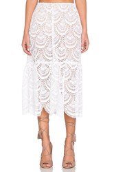 For Love And Lemons Rosalita Skirt White