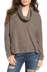 Lush Women's Brushed Cowl Neck Pullover
