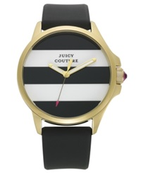 Juicy Couture Women's Jetsetter Black Silicone Strap Watch 38Mm 1901098