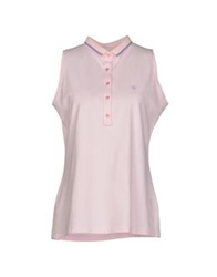 Fay Polo Shirts Light Pink