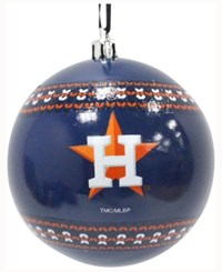 Memory Company Houston Astros Ugly Sweater Ball Ornament Navy