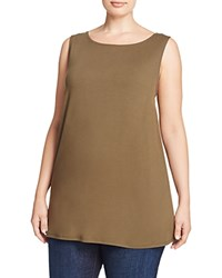 Eileen Fisher Plus Boat Neck Tank Caper