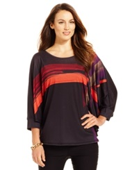 Miraclesuit Shaping Printed Poncho Top