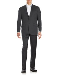 Lauren Ralph Lauren Two Piece Wool Suit Set Charcoal