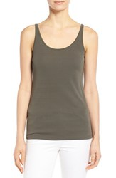 Women's Eileen Fisher Long Scoop Neck Camisole Oregano