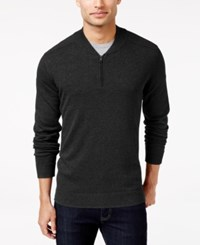 Alfani Men's Regular Fit Baseball Collar Sweater Only At Macy's Deep Black