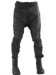 Demobaza Sirius Nylon And Jersey Twisted Pants