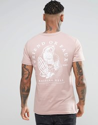 Friend Or Faux Back Print T Shirt Pink