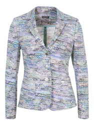Basler Tweed Print 3 Button Jacket Mint