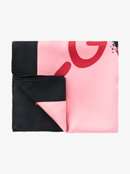 Gucci Ghost Life Is Silk Scarf Pink Black Red Earth Denim