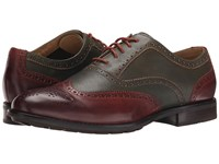 Sebago Dresden Wing Tip Green Chestnut Leather Men's Lace Up Wing Tip Shoes Brown