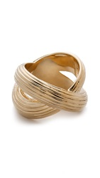 Giles And Brother Large X Knot Ring Gold