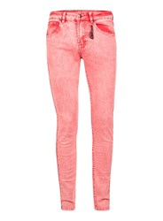 Topman Always Rare Acid Wash Pink Super Skinny Jeans