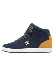 Dc Shoes Crisis Hightop Trainers Navy Gold Dark Blue