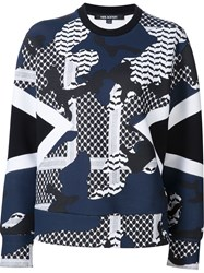 Neil Barrett Patterned Camouflage Sweatshirt Black