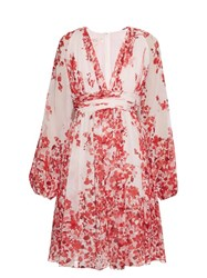 Giambattista Valli Floral Print Silk Chiffon Dress