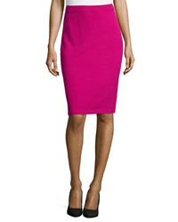 St. John Pull On Knit Pencil Skirt Cosmo