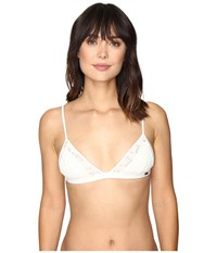 Roxy Cozy And Soft Fixed Tri Bikini Top Cream Women's Swimwear Beige