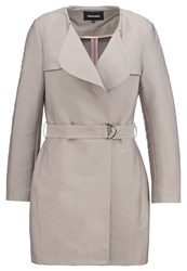 More And More Classic Coat Salty Sand Grey