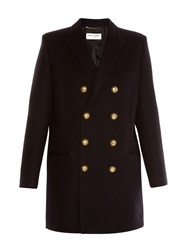 Saint Laurent Military Double Breasted Pea Coat