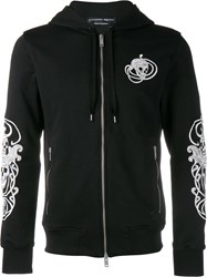 Alexander Mcqueen Skull Embroidered Hoodie Black