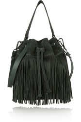 Iris And Ink Brixton Fringed Suede Bucket Bag