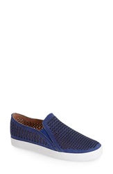 Corso Como 'Longbeach' Perforated Leather Slip On Sneaker Women Cobalt Tumbled Leather