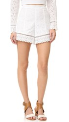 Endless Rose Eyelet Shorts White