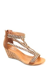 Summer Rio Chain Embellished Wedge Sandal Brown