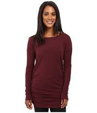 Lucy Yoga Girl Long Sleeve Top Fig Women's Long Sleeve Pullover Brown