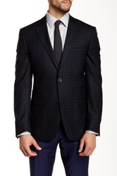Ike Behar Pandora Check Two Button Notch Lapel Wool Sportcoat Blue