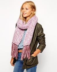 Barts Solange Chunky Knitted Scarf Dustypink