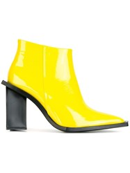 Marques Almeida Marques'almeida Angular Sole Boots Yellow Orange