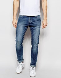 Jack And Jones Jack And Jones Light Wash Jeans In Slim Fit With Stretch Light Blue