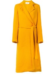 Ports 1961 Textured Trench Coat Yellow And Orange