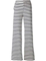 Harvey Faircloth Striped Flared Trousers