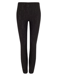 Phase Eight Bonded Lace Ponte Jeggings Black