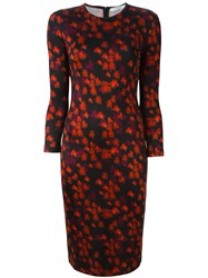 Givenchy Abstract Floral Print Dress Black