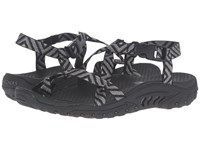Skechers Reggae Haystack Black Gray Women's Sandals