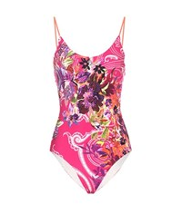Etro Printed Swimsuit Multicoloured