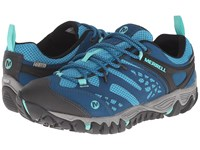 Merrell All Out Blaze Vent Waterproof Turquoise Aqua Women's Shoes Blue