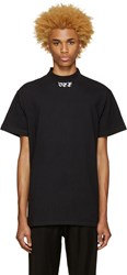 Off White Black 'Off' Mock Neck T Shirt