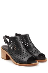 Rag And Bone Rag And Bone Perforated Leather Sandals Black
