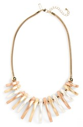 Women's Topshop Brushed Link Statement Necklace