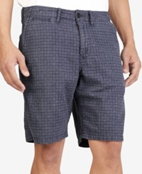 Lucky Brand Men's Printed Utility Plain Front Shorts Blue