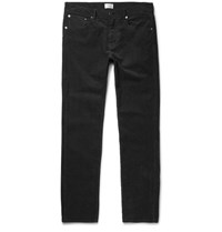 Gant Rugger Garment Dyed Stretch Cotton Corduroy Trousers Dark Gray